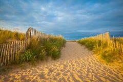 Spiaggia in brittany Fotografie Stock