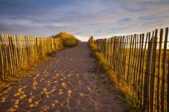 Spiaggia in brittany Fotografie Stock Libere da Diritti
