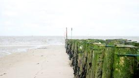 Spiaggia brulla del Mare del Nord Fotografia Stock
