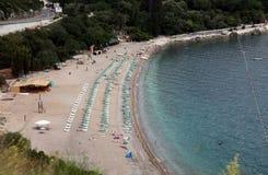 Spiaggia in Budua, Montenegro Fotografia Stock