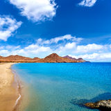 Spiaggia Cabo de Gata di Almeria Playa los Genoveses Fotografia Stock