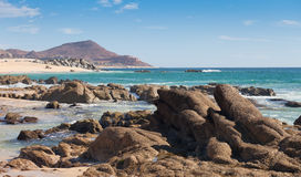 Spiaggia in Cabo San Lucas, Messico Immagini Stock Libere da Diritti