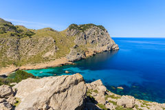 Spiaggia a Cala Figuera, isola di Maiorca Fotografia Stock