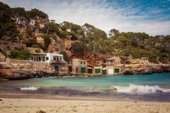 Spiaggia a Cala Lllombards fotografia stock libera da diritti