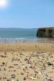 Spiaggia calda di Ballybunion Fotografia Stock
