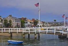 Spiaggia California dell'isola della balboa, Newport Immagini Stock Libere da Diritti