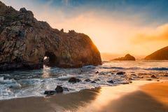 Spiaggia California di Pfeiffer Immagine Stock Libera da Diritti