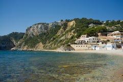 Spiaggia calma di Costa Blanca Immagine Stock