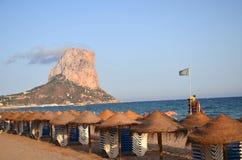 Spiaggia in Calpe, Spagna Fotografie Stock