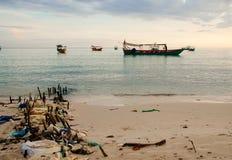 Spiaggia in Cambogia Fotografie Stock