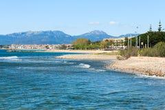 Spiaggia a Cambrils Fotografie Stock Libere da Diritti