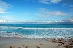 Spiaggia Cancun/Messico Fotografia Stock Libera da Diritti