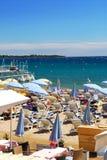 Spiaggia a Cannes, Francia Fotografia Stock Libera da Diritti