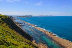 Spiaggia Cantabrian Fotografia Stock