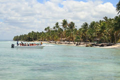 Spiaggia caraibica Fotografia Stock Libera da Diritti