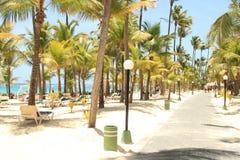 Spiaggia caraibica del ricorso Fotografie Stock