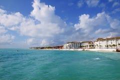 Spiaggia caraibica del turquaoise del Playa del Carmen Fotografia Stock