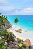 Spiaggia caraibica, Messico Fotografie Stock Libere da Diritti