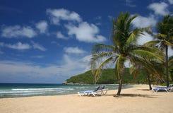 Spiaggia caraibica pittoresca immagini stock libere da diritti
