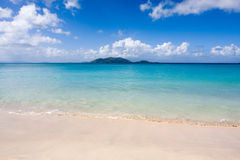 Spiaggia caraibica serena   Fotografia Stock Libera da Diritti