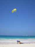 spiaggia caraibica tropicale Immagini Stock Libere da Diritti