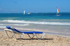 Spiaggia caraibica tropicale fotografia stock