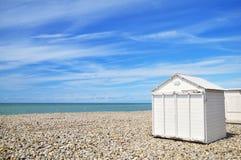 Spiaggia-case Fotografia Stock Libera da Diritti