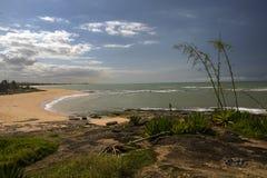Spiaggia celeste Fotografie Stock