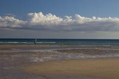 Spiaggia celeste per gli sport Immagini Stock Libere da Diritti