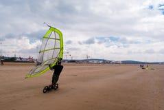 Spiaggia che pratica il surfing, essaouira immagine stock libera da diritti