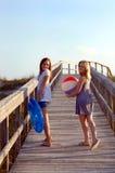 spiaggia che va a Immagini Stock