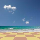 Spiaggia Checkered fotografia stock