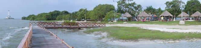 Spiaggia in Chetumal Immagine Stock