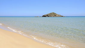 Spiaggia Chia in Sardegna, Italia Fotografia Stock