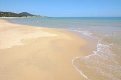 Spiaggia Chia in Sardegna, Italia Fotografie Stock Libere da Diritti