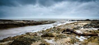 Spiaggia a cicloni della posta Fotografie Stock