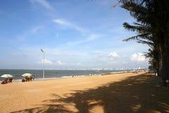 Spiaggia cinese Fotografia Stock