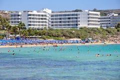 Spiaggia in Cipro Fotografie Stock Libere da Diritti