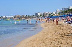 Spiaggia in Cipro Immagini Stock Libere da Diritti
