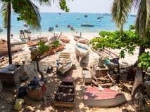 Spiaggia in città di pietra, Zanzibar Immagini Stock Libere da Diritti