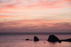 Spiaggia Cliifs della Cipro Immagine Stock