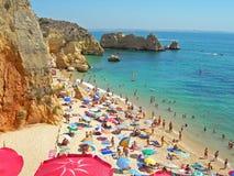 Spiaggia Colourful espansiva Fotografie Stock Libere da Diritti
