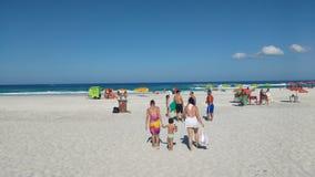 Spiaggia con acque libere Fotografia Stock