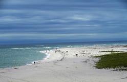 Spiaggia con cielo blu immagini stock