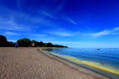spiaggia con colore speciale Fotografia Stock Libera da Diritti