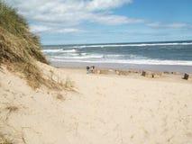 Spiaggia con le dune di sabbia Fotografia Stock Libera da Diritti
