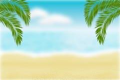 Spiaggia confusa Fondo stagionale di estate fotografia stock libera da diritti
