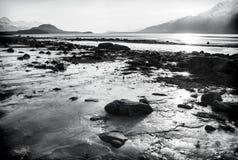 Spiaggia congelata Immagine Stock