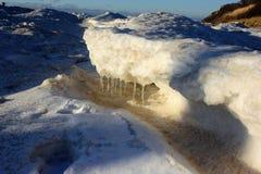 Spiaggia congelata Fotografie Stock
