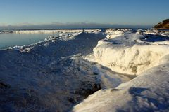 Spiaggia congelata Immagini Stock